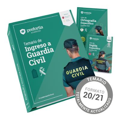 Temario Ingreso Guardia Civil 20/21